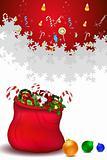 santa bag full of gifts