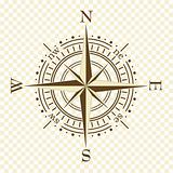 brown compass