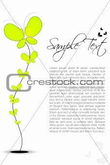abstract floral text template