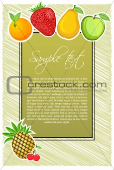 abstract fruit text template