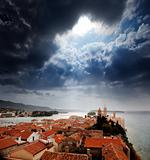 Medieval Town Dramatic Sky