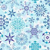 Seamless blue christmas wallpaper