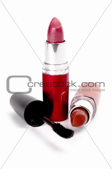 lipstick and mascara