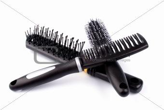 three hairbrushes