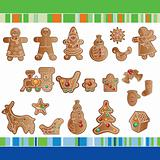 set of Christmas gingerbread cookies
