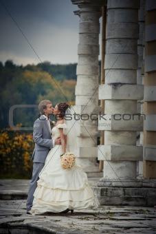 Portrait of newlyweds