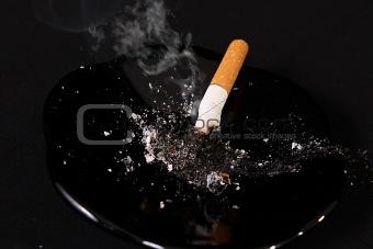 cigar on dark background