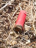 shotgun cartridge on ground