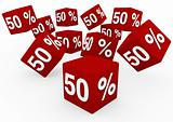 3d red sale cube