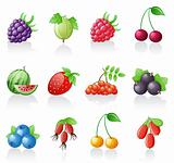 Berries icon set.