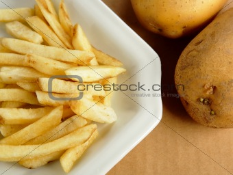 french fries with potato