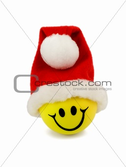 smile in santa hat