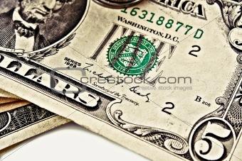 Five dollars closeup