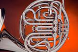 French Horn Silver On Gold
