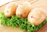 Potatoes and salad