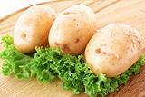 Potatoes and salad