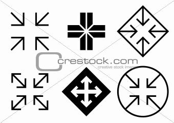 Arrows and crosses set