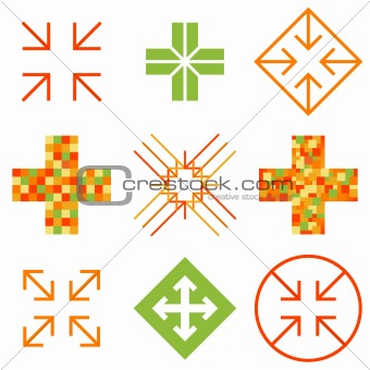 Arrow cross signs