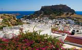 Ancient town Lindos. Rhodos. Greece