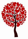 Valentines tree background, vector