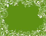 Frame floral for design, vector