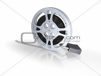 Film bobbin with lock