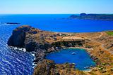 Small Lindos Bay. Rhodes. Greece