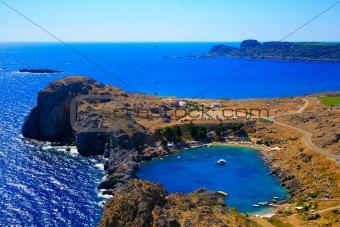 Small Lindos Bay. Rhodes. Greece