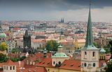 View of Prague in bad weather