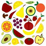 Fruit and vegetable pattern