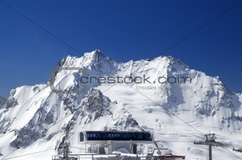 Top station of ropeway