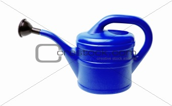 Watering can isolated on white