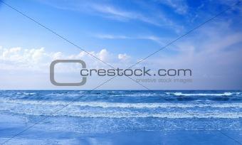 Beautiful seascape. Sunset over the sea