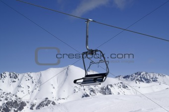 Chairlift, close-up