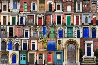 COMPOSITE OF FRONT DOORS