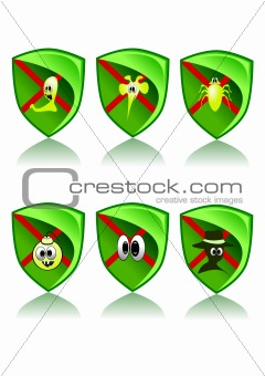 Green Web Icons Set