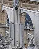 Close-up of the Buttresses of Notre Dame