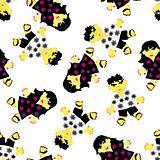 greeting seamless pattern