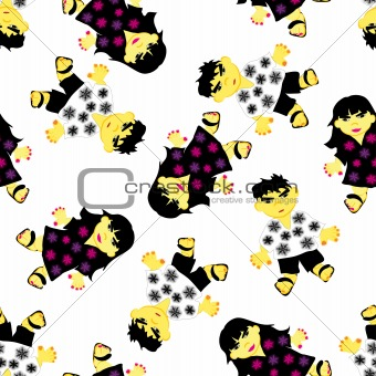 greeting seamless pattern