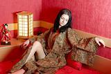 Woman in japanese bedroom