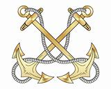 Gold anchors vector