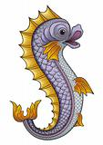 Heraldic fish vector