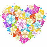 Colorful floral heart