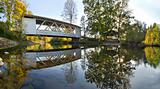 Hannah Covered Bridge Oregon Panorama