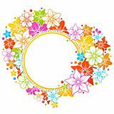 Floral colorful frame
