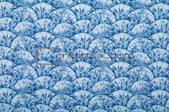 Blue ornated textile