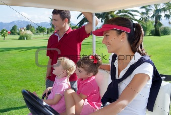 Family at golf course