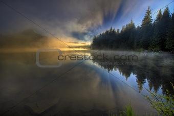Foggy Morning at Trillium Lake