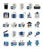 25 Realistic Detailed Internet Icons