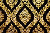 thai art gold paiting pattern
